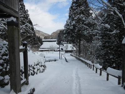冬の板取宿
