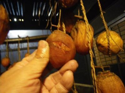 つるし柿作り体験(12月14日、12月15日)