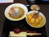 がさ海老カツ丼とおろし蕎麦の膳